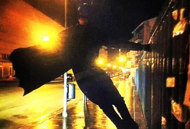 Batman veglia sulla città di Isernia (FOTO)