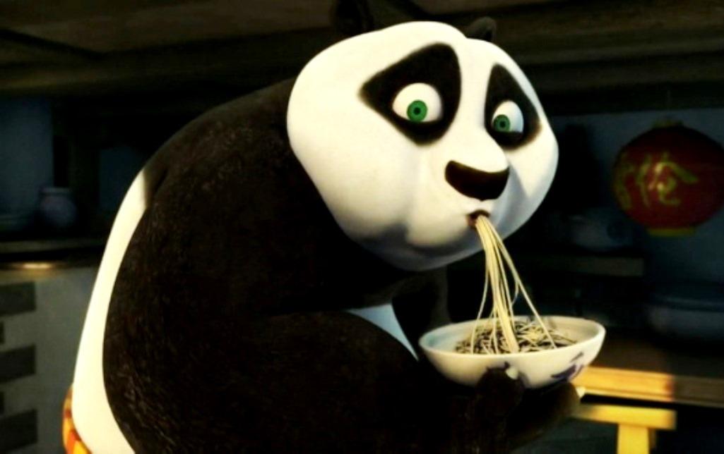 Kung fu panda e ratatouille i cartoni animati ghiotti di cibo