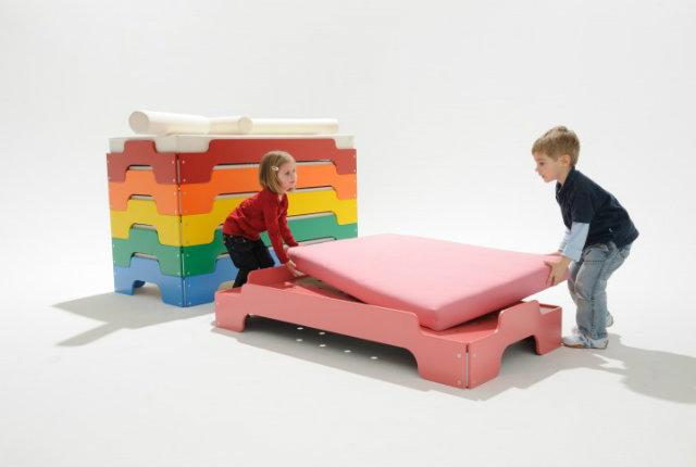 Il letto colorato per tanti posti letto