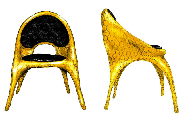 La nuova Donatella Chair, gli Haas Brothers per Versace Home