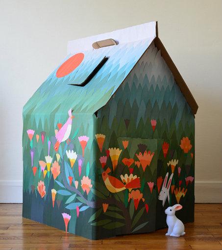 La Casa Cabana, è in cartone il rifugio della fantasia