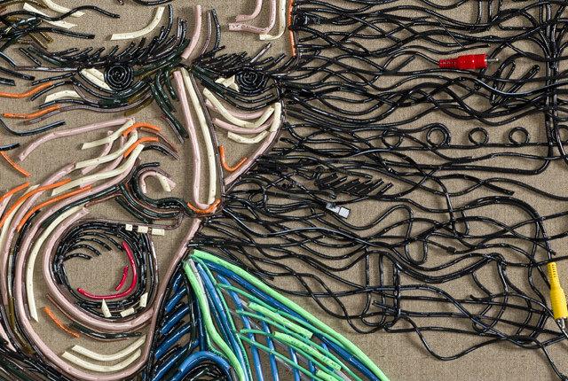 I cavi elettrici dismessi diventano arte