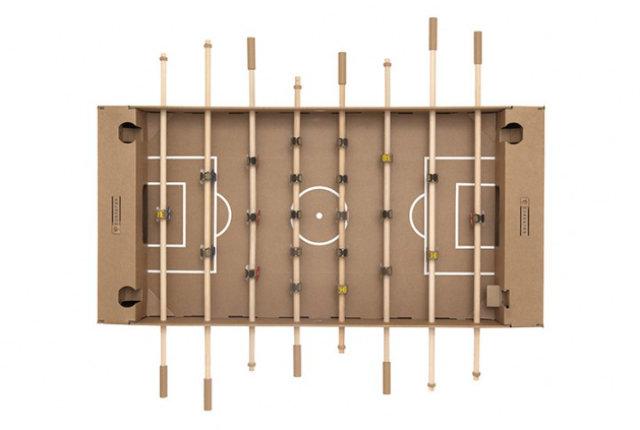Kartoni, il calcio balilla di cartone che si monta in pochi minuti