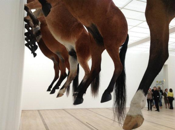 Kaputt, a Basilea Maurizio Cattelan e i suoi cavalli imbalsamati