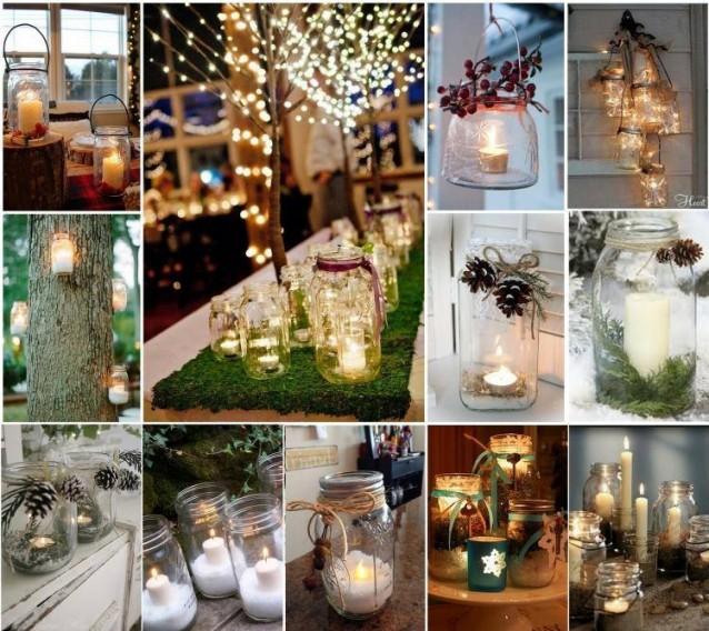 10 decorazioni natalizie fai da te semplici ed economiche - Barattoli vetro ikea ...