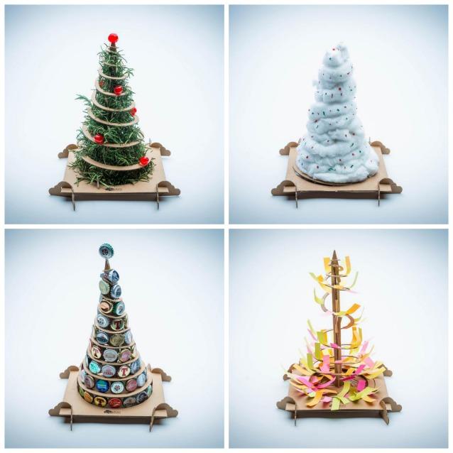 Alberi di natale fai da te treebox da un albero di for Oggetti usati in regalo
