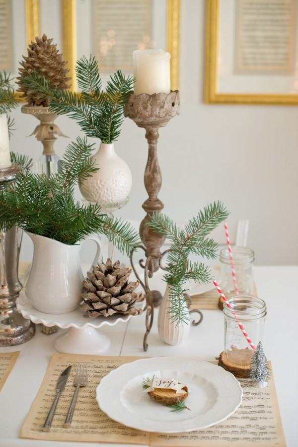 la tavola natalizia idee per decorazioni semplici ed eleganti. Black Bedroom Furniture Sets. Home Design Ideas