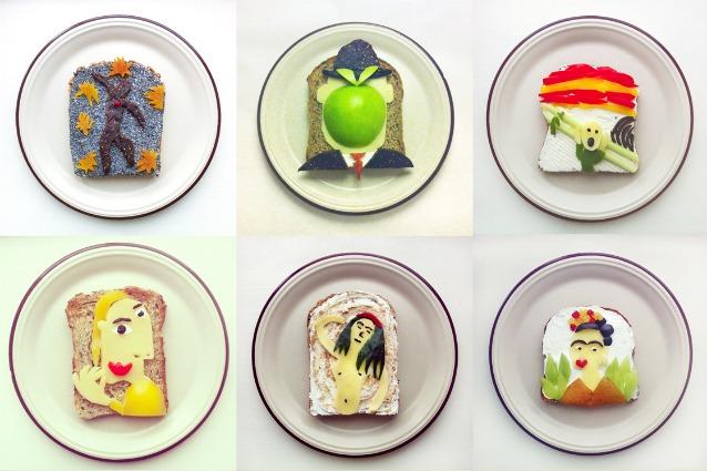 Colazioni d'artista: ecco le riproduzioni su toast dei grandi classici dell'arte