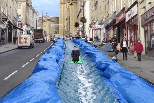 Park and Slide: uno scivolo gigante nel centro di Bristol
