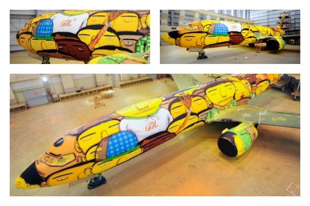 L'aereo della nazionale brasiliana: un artistico Boeing 737 per i Mondiali 2014