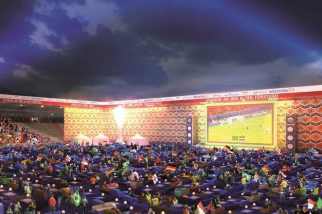 Allo stadio col proprio divano per le partite dei Mondiali