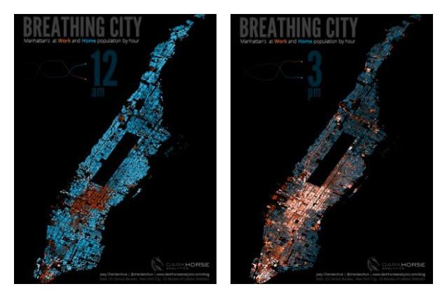 Il respiro di New York: i battiti del cuore dei Manhattiani in un'immagine incredibile