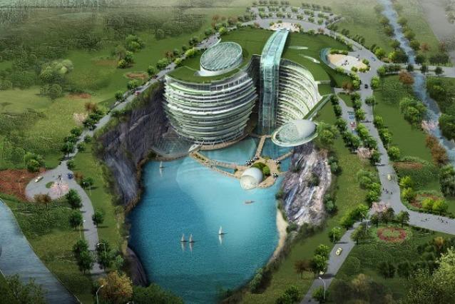 Shimao Intercontinental Hotel, l'albergo sotterraneo di Shanghai