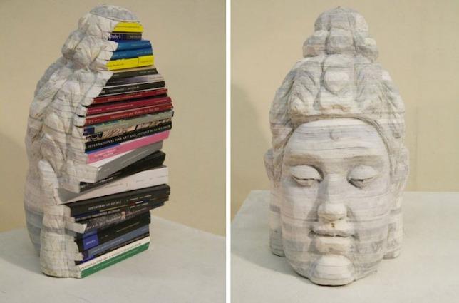Le sculture di Long-Bin Chen: quando i libri riciclati diventano Arte