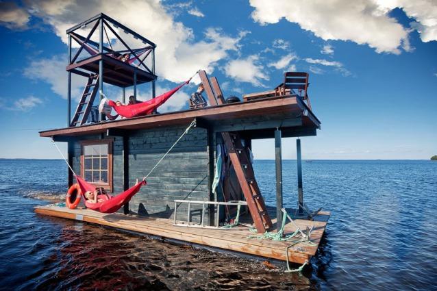 Saunalautta: la prima sauna galleggiante al mondo