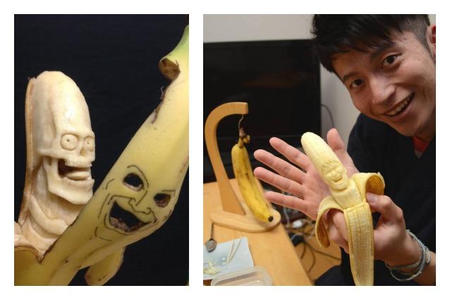 Da comuni banane a inquietanti sculture: l'arte di Keisuke Yamada