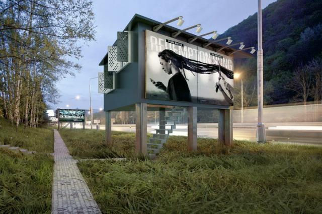Slovacchia, i cartelloni pubblicitari diventano case rifugio per i senzatetto