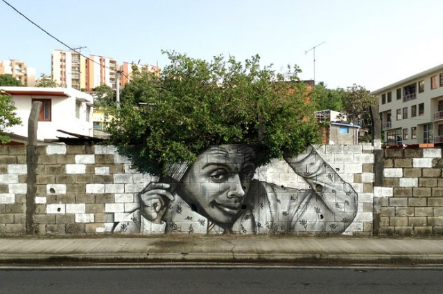 Le 15 opere di street art che meglio si integrano con la natura