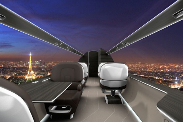 Ixion, il jet del futuro completamente panoramico