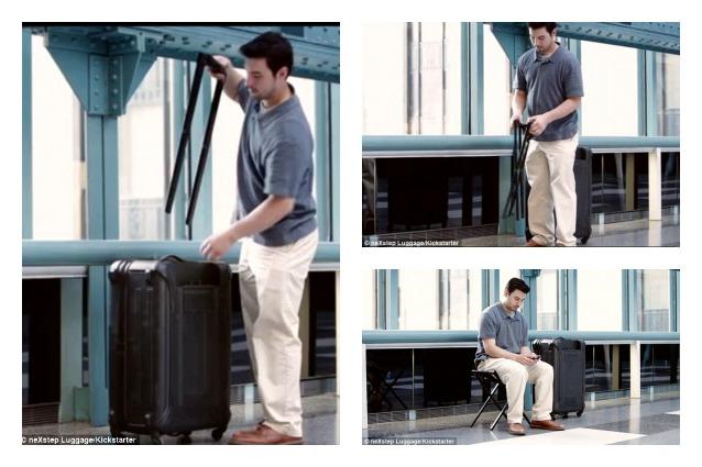 NeXstep, ecco la valigia che diventa sedia