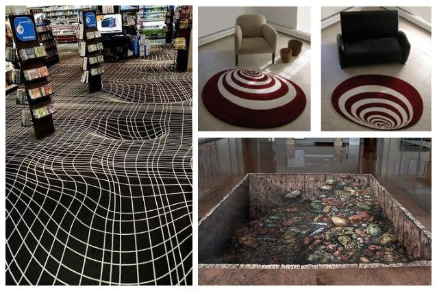Illusioni ottiche: i 10 tappeti più assurdi che abbiate mai visto