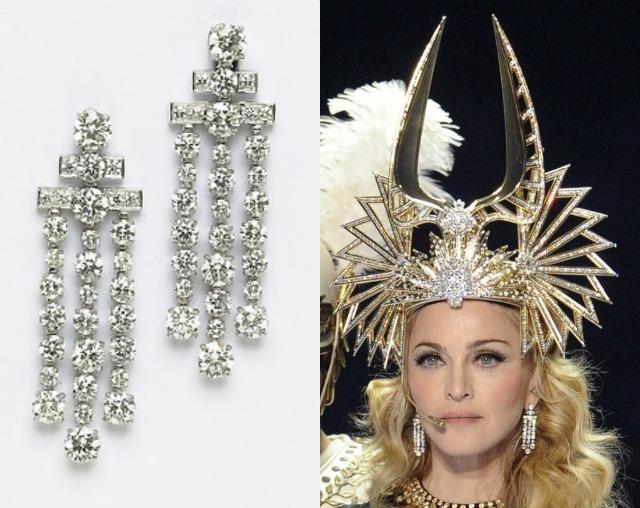 Madonna corona e orecchini Bulgari