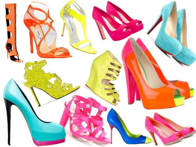 scarpe-fluo per la primavera estate 2012