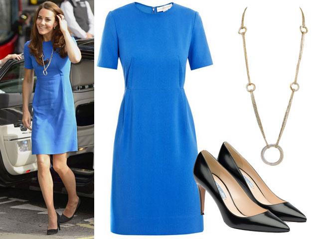 Kate-Middleton-collana-Cartier abito stella mccartney scarpe prada