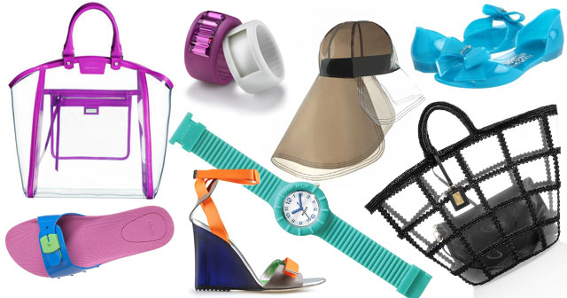 Borse Da Mare In Pvc : Una moda di plastica scarpe borse e accessori da spiaggia