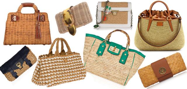 Borse Di Paglia Decorate Alluncinetto : Paglia e rafia materiali poveri per abiti accessori di