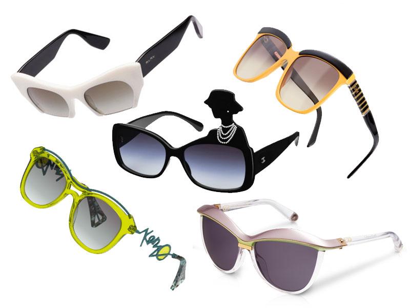 Gli occhiali da sole più originali per l'estate 2013