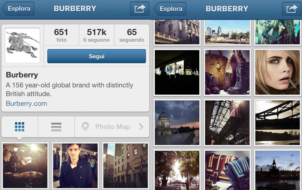 La classifica dei marchi più seguiti su Instagram