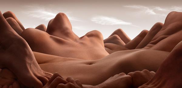 """""""Bodyscapes"""": corpi nudi si trasformano in paesaggio (FOTO)"""