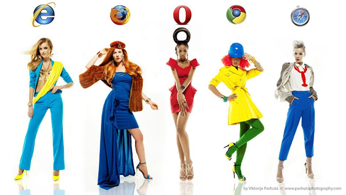 Fotografa americana trasforma i browser web in abiti (FOTO)
