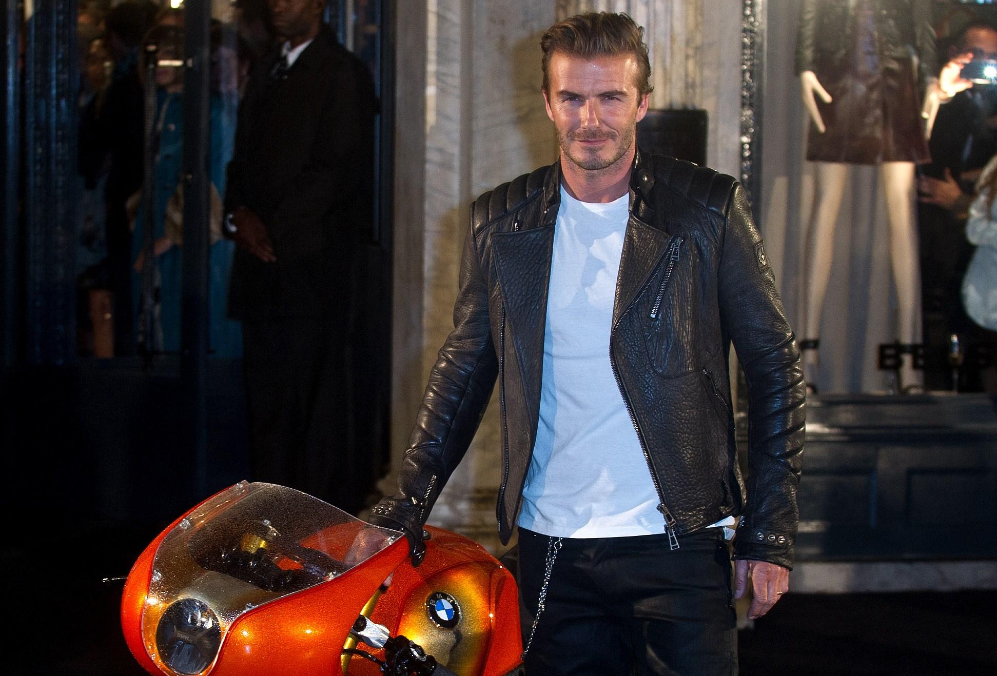 David Beckham diventa motociclista per Belstaff (FOTO)