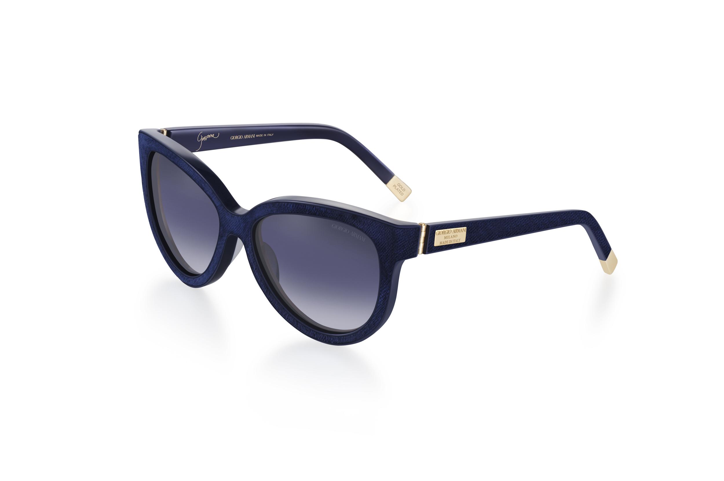 """Giorgio Armani celebra lo stile """"Garçonne"""" con gli occhiali in velluto"""
