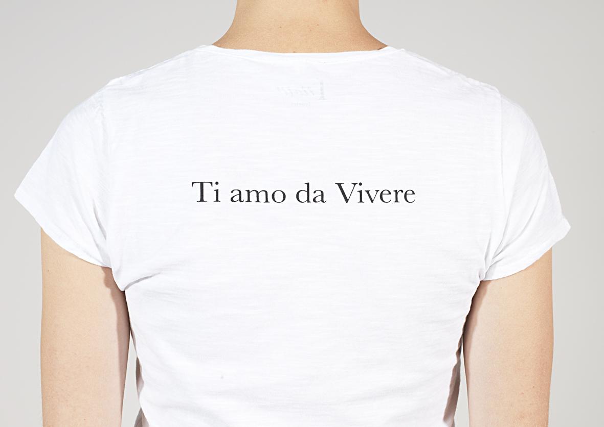 """""""Ti Amo da Vivere"""": le T-shirts per la Giornata Mondiale contro la violenza sulle donne"""