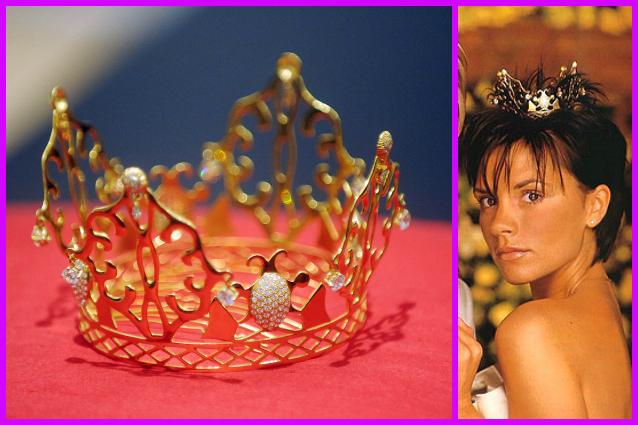 All'asta la corona indossata da Victoria Beckham per il suo matrimonio (FOTO)