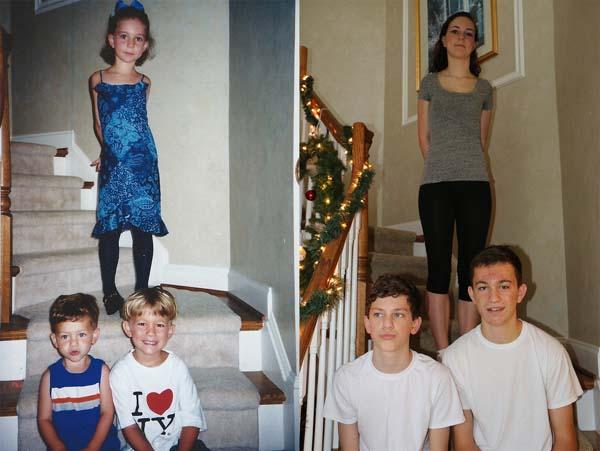 Come emozionare i propri genitori: 5 fratelli ricreano le foto dell'infanzia