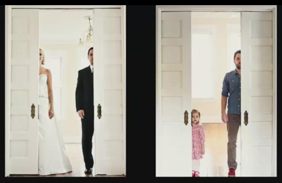 Vedovo ricrea le foto dell'album di nozze con la figlia di 3 anni al posto della moglie (FOTO)