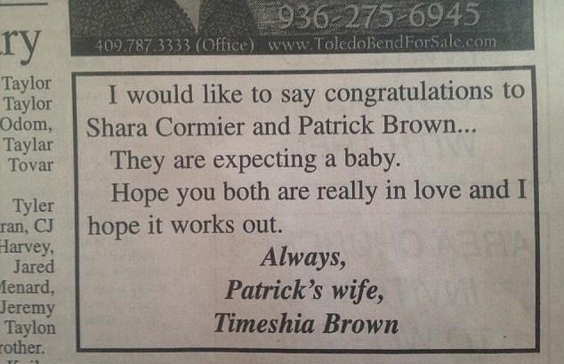 Il marito la tradisce, lei si vendica pubblicando sul giornale gli auguri per lui e l'amante