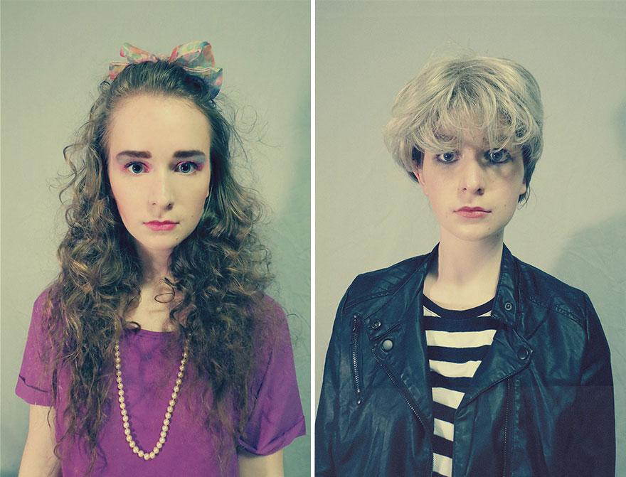 La moda dagli anni '20 ad oggi: una ragazza si trasforma per mostrare i cambiamenti dello stile (FOTO)