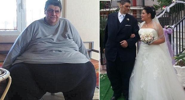Dimagrisce 200 chili per portare la figlia all'altare