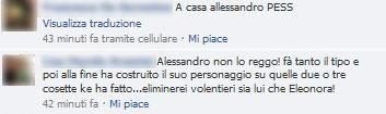 i commenti su facebook