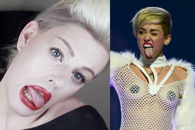 Il modello si trasforma in Miley Cyrus grazie al make up (VIDEO)