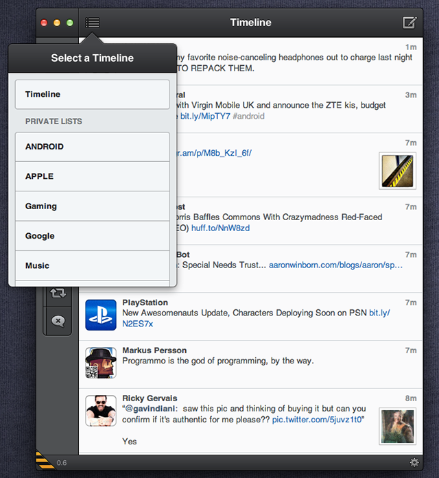 tweetbot for mac 7 Download Tweetbot per Mac in versione alpha