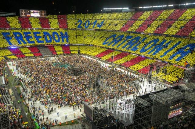 """Concert per la Llibertat"": in 90mila a Barcellona per l'identità catalana"