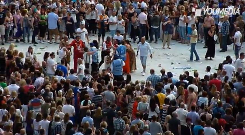 Rissa al concerto di Robbie Williams (VIDEO)