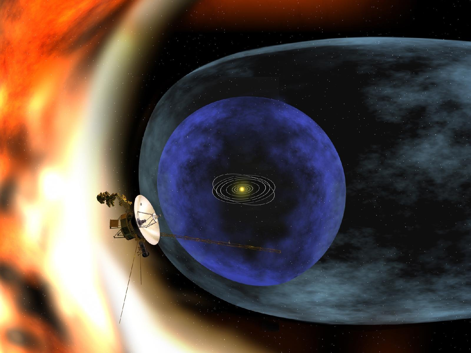 Voyager 1 varca i confini del Sistema Solare