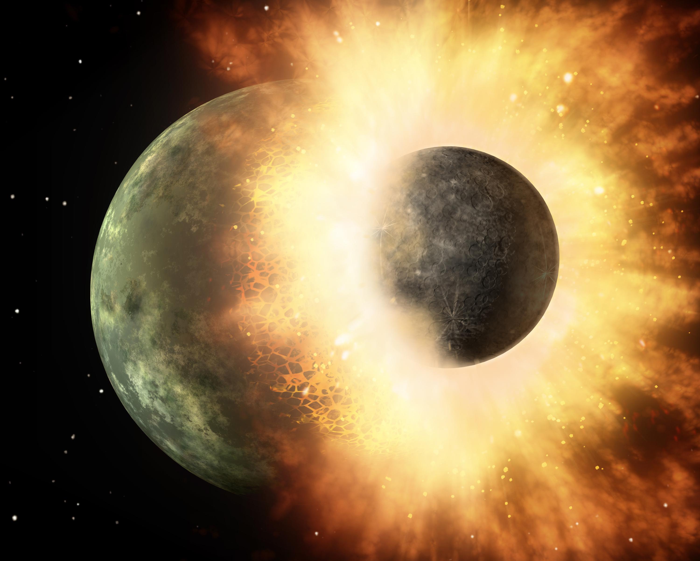 Un'apocalisse cosmica all'origine della Luna